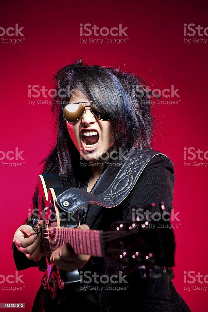 Passionate Rocker royalty-free stock photo