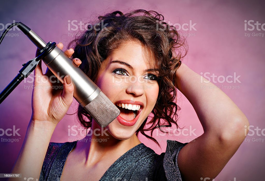 Passionate Singer royalty-free stock photo