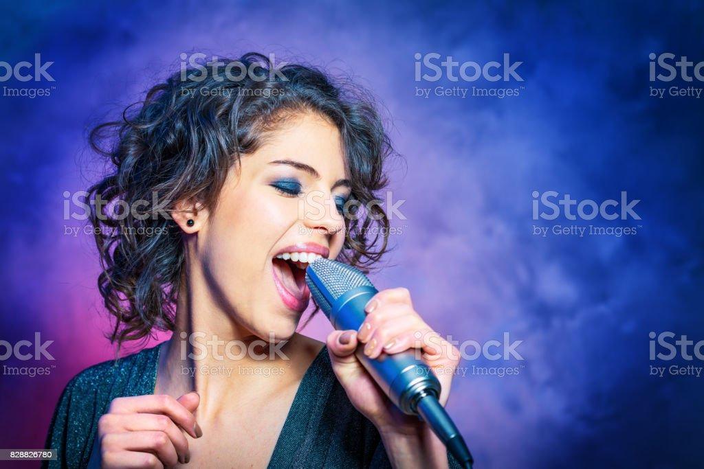 Passionate Singer stock photo