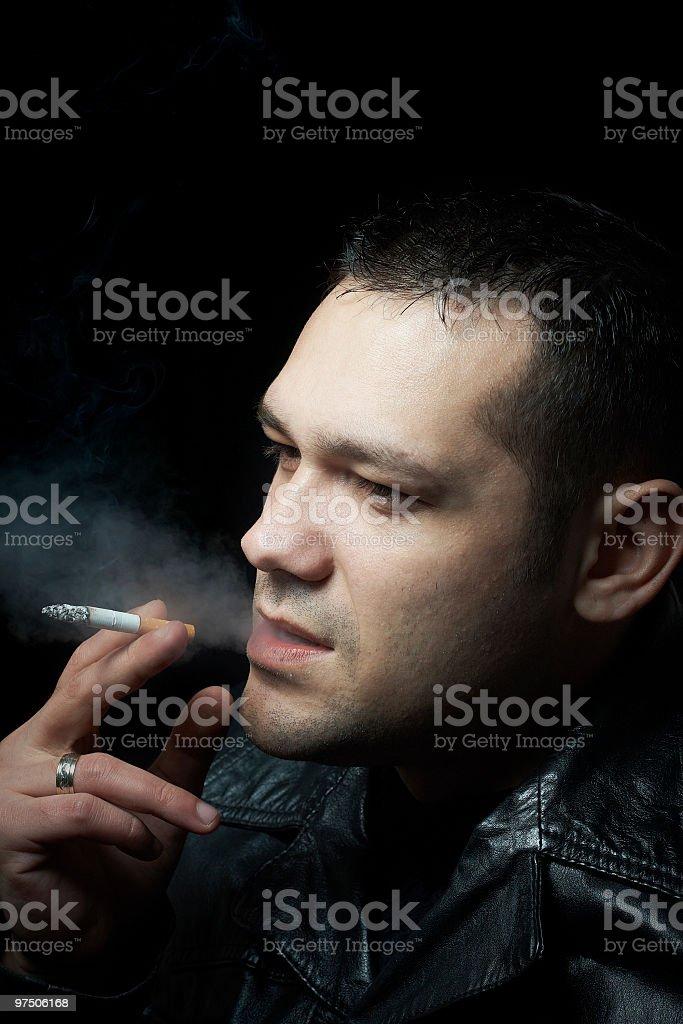 passionate smoker royalty-free stock photo