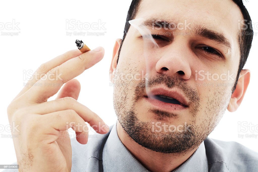 passionate smoker royalty-free stock photo