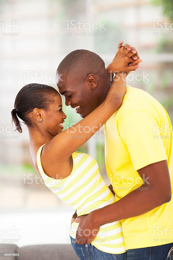 passionate young african couple royalty-free stock photo