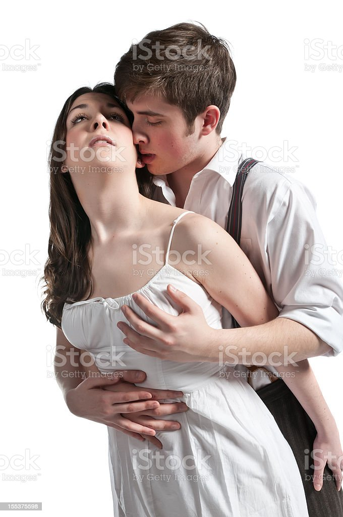 Passionate Young Couple stock photo