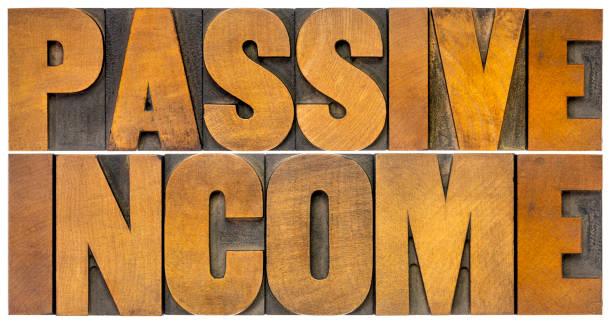 passive income - financial concept stock photo