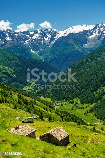 istock Passo Gavia, mountain pass in Lombardy, Italy, to Val Camonica at summer 1301628393