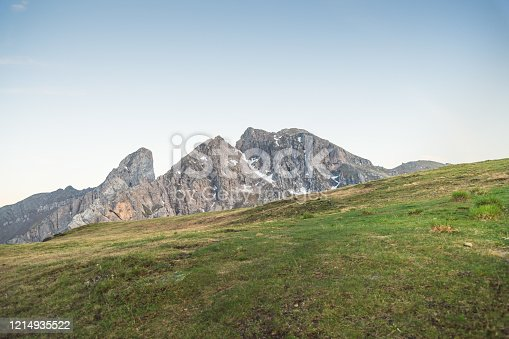 istock Passo Giau near Cortina d Ampezzo and mout Ra Gusela and Nuvolau, Dolomites, Italy landscape 1214935522
