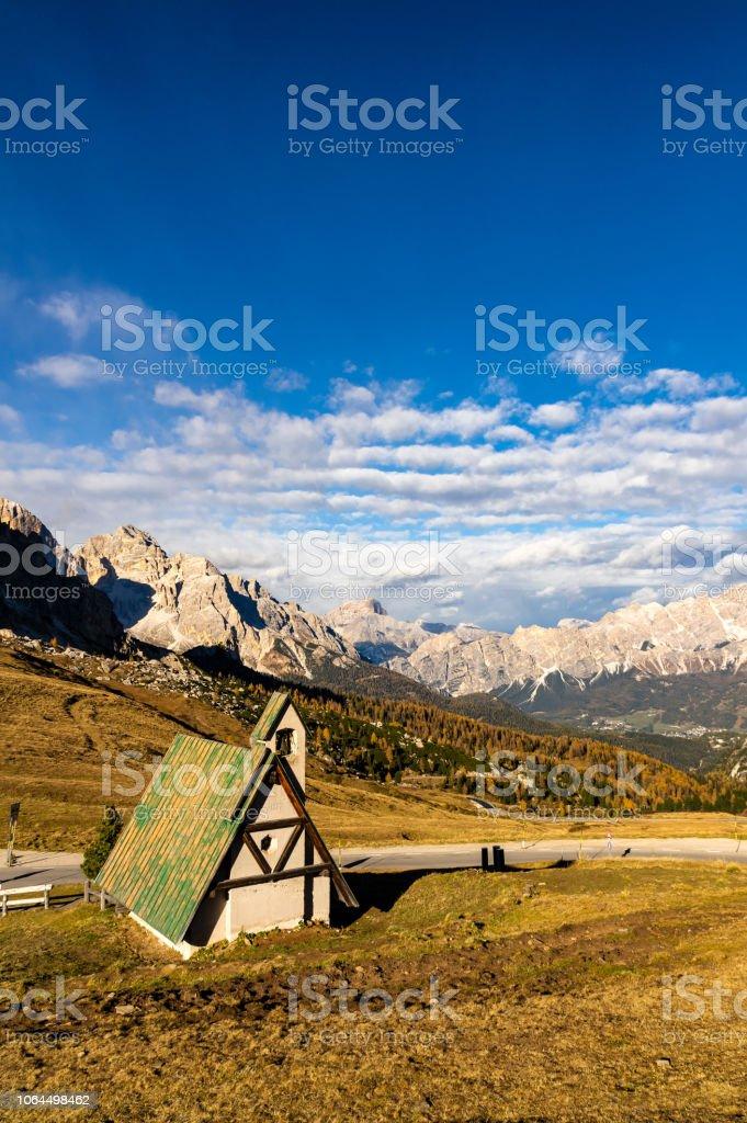 Passo Giau stok fotoğrafı