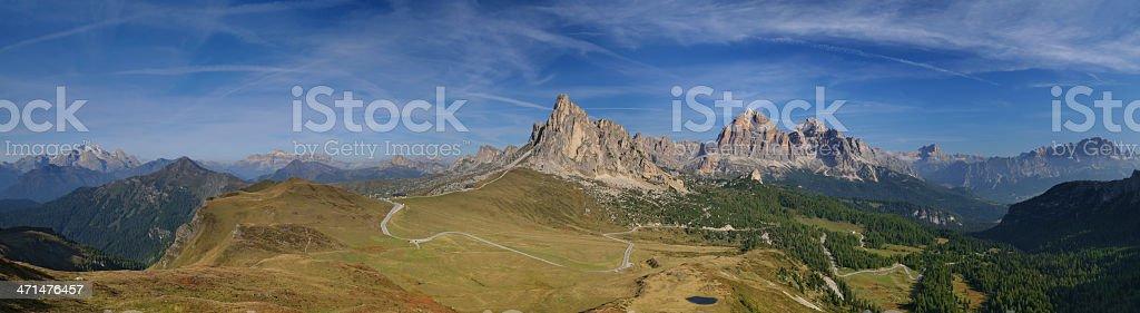 Passo Giau (Dolomites - Italy) stock photo