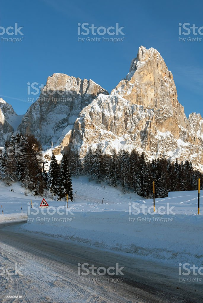 Passo Rolle, the Dolomites, Northern Italy stock photo