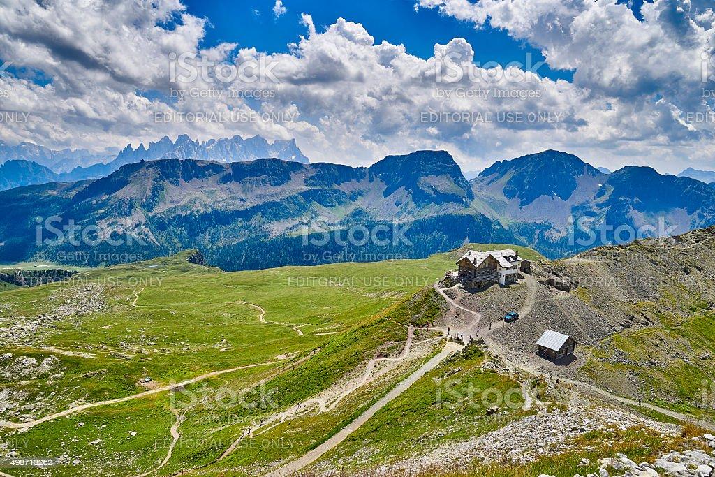 Passo San Pellegrino - last refugio on the route stock photo