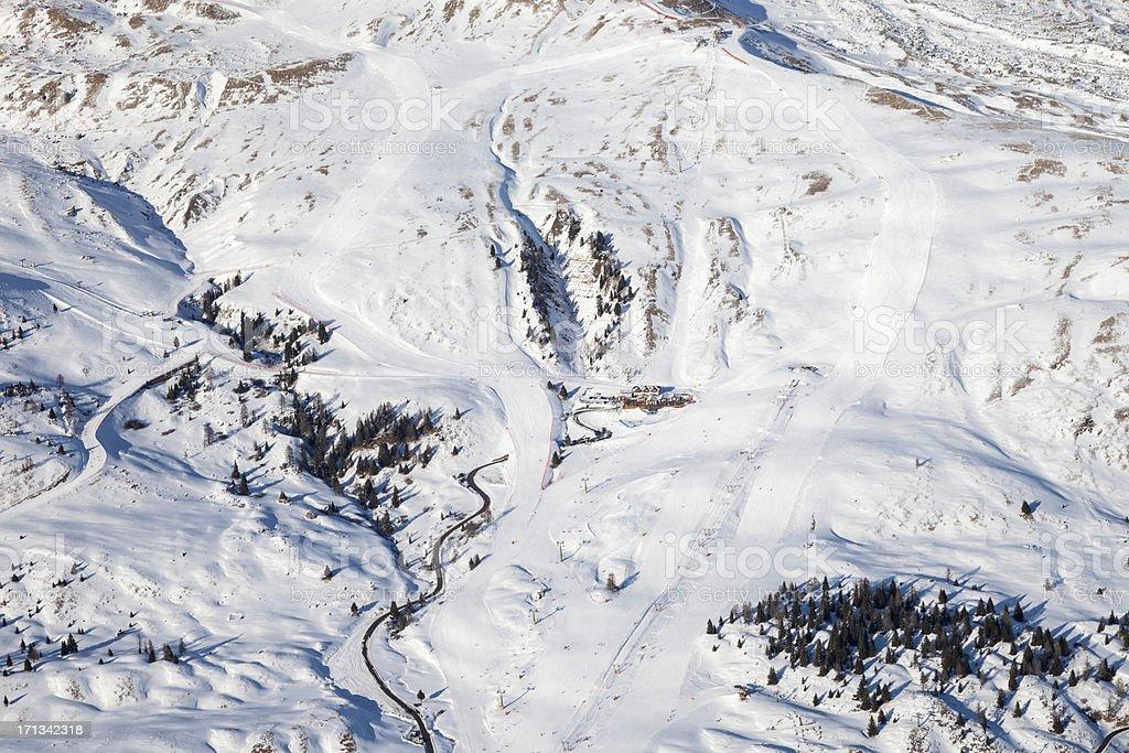 Passo San Pellegrino stock photo
