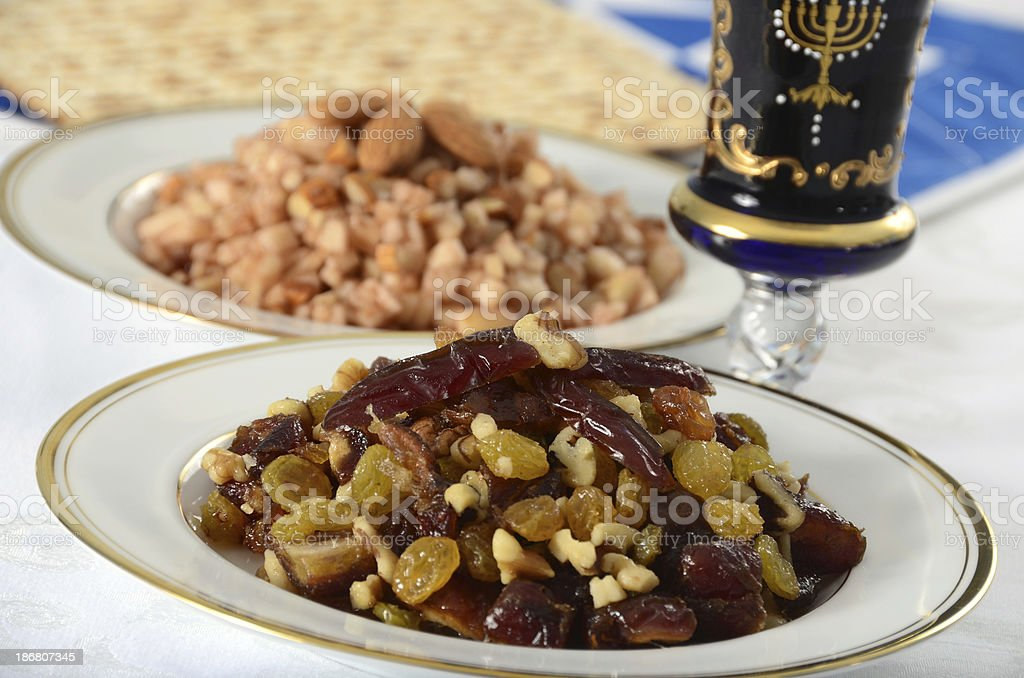 Passover Charoset royalty-free stock photo
