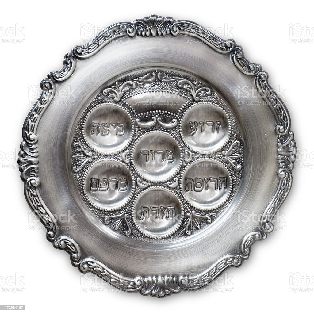 Passover dish (clipping path) stock photo