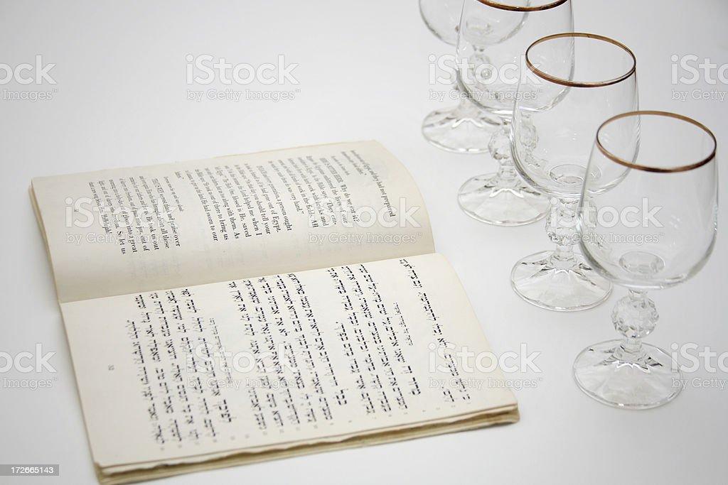 Passover hagaddah royalty-free stock photo