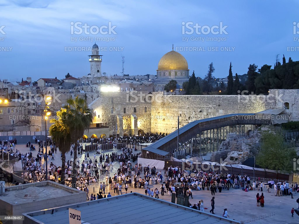 Passover Holiday at Western Wall stock photo