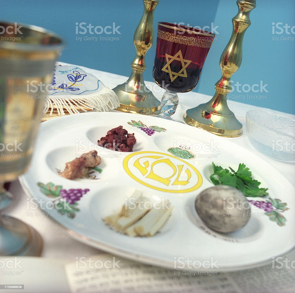 Passover Jewish Easter meal royalty-free stock photo