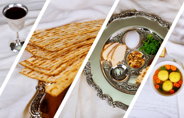 passover jewish food Pesach matzo and matzoh bread Photo collage different picture Pesah celebration concept jewish Passover holiday passover jewish food Pesach matzo and matzoh bread passover, jewish Photo collage different picture seder plate stock pictures, royalty-free photos & images