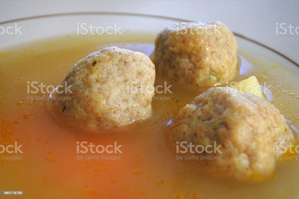 Passover Jewish soup dumplings royalty-free 스톡 사진