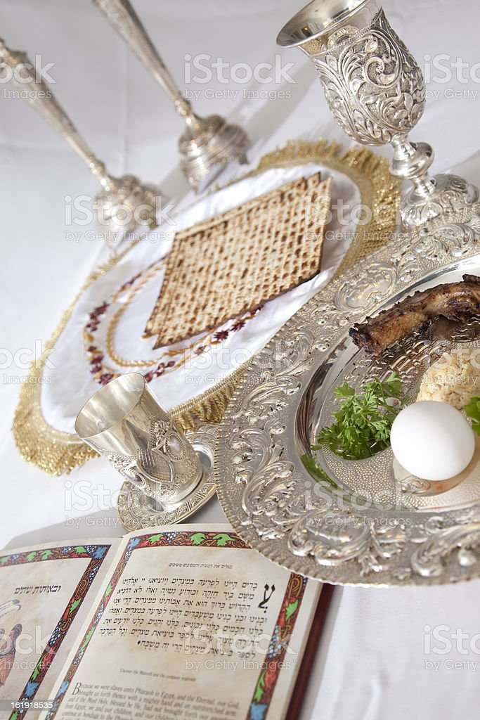 Passover Seder Plate royalty-free stock photo