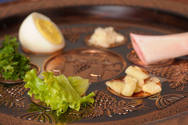 Passover Seder Plate Stock photo of Passover Seder Plate seder plate stock pictures, royalty-free photos & images