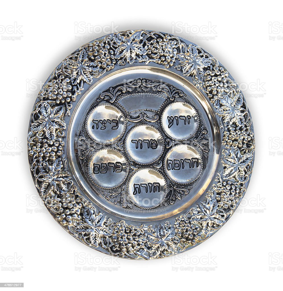Passover - Seder Plate royalty-free stock photo