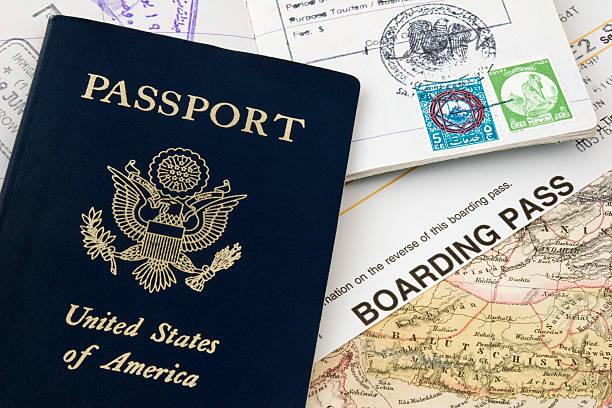 Passport and Boarding Pass stock photo