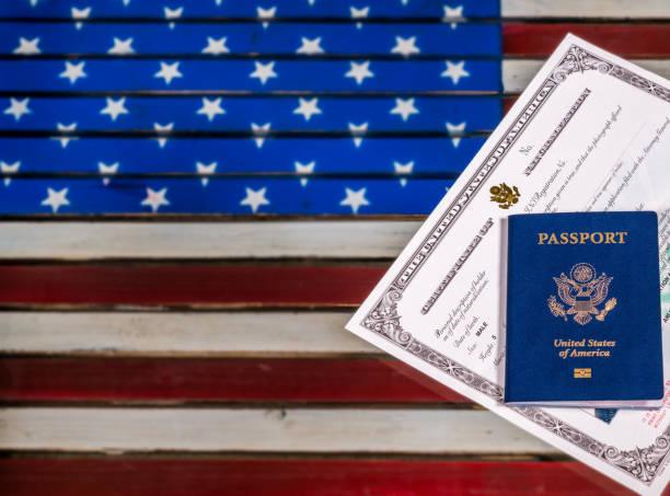 Passport and naturalization certificate over us flag picture id861732244?b=1&k=6&m=861732244&s=612x612&w=0&h=6aj6y nzxzpgih1gwku9d5kxeqhx7kcgql3e xt 5we=