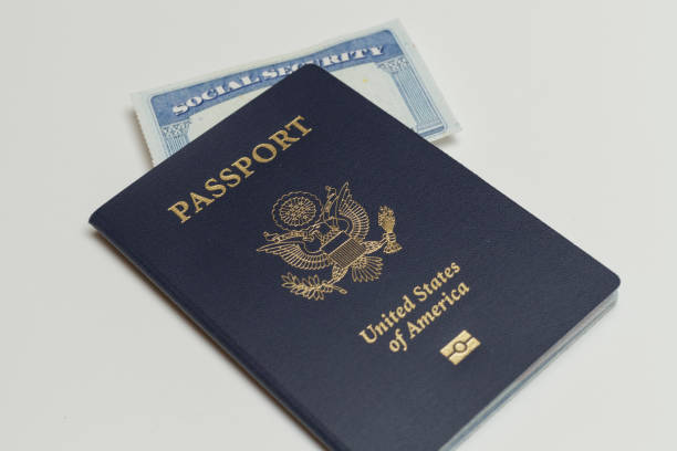 passport and social security card - citizenship stock photos and pictures