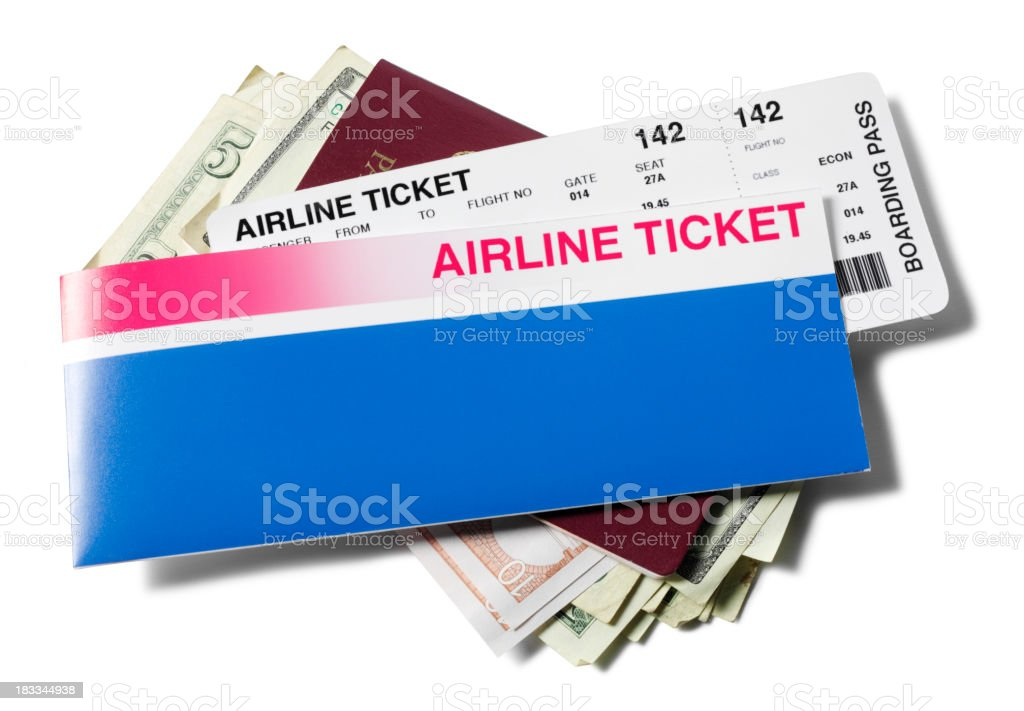 Passport and Travel Ticket stock photo