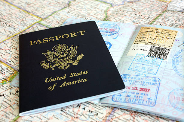Passport and Visa Stamps  passport stamp stock pictures, royalty-free photos & images