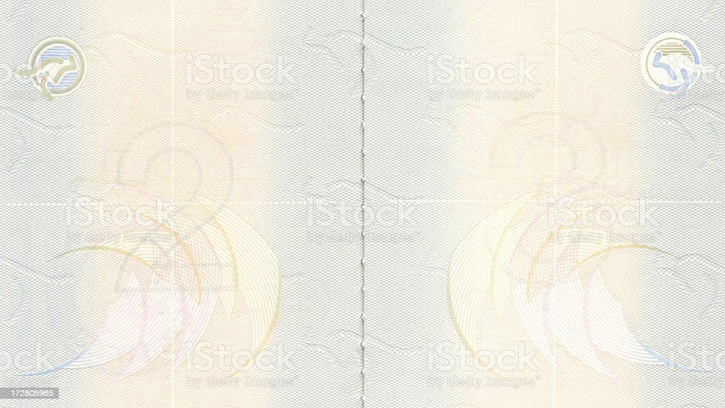 Passport Blank Pages stock photo