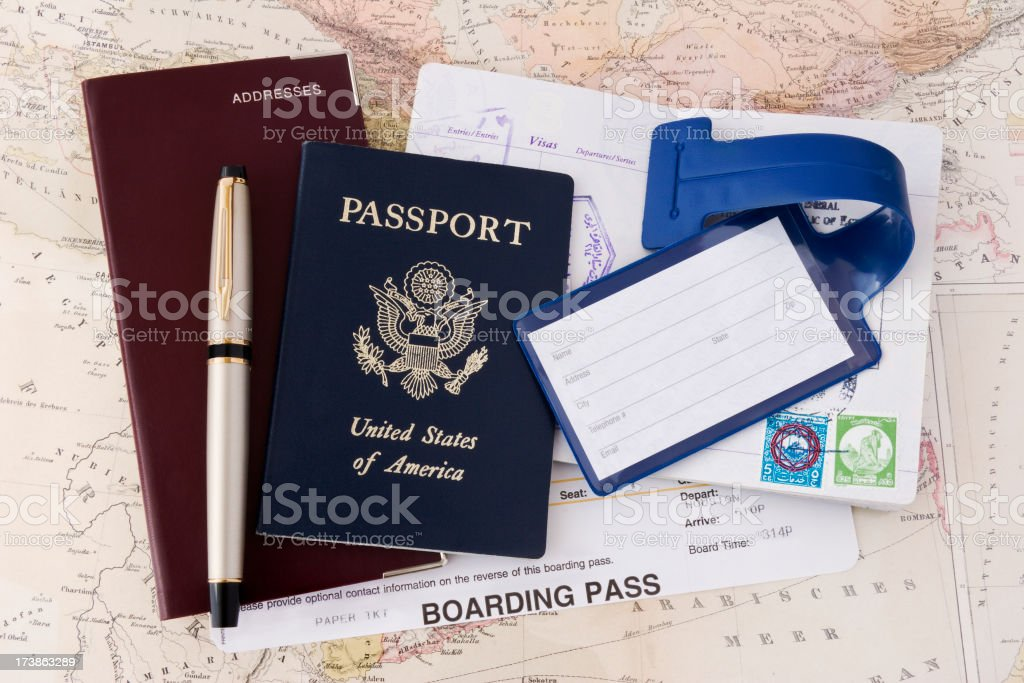 Passport & Boarding Pass royalty-free stock photo