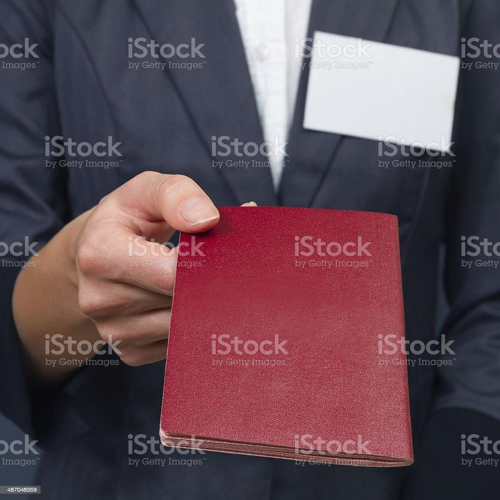 Passport control stock photo