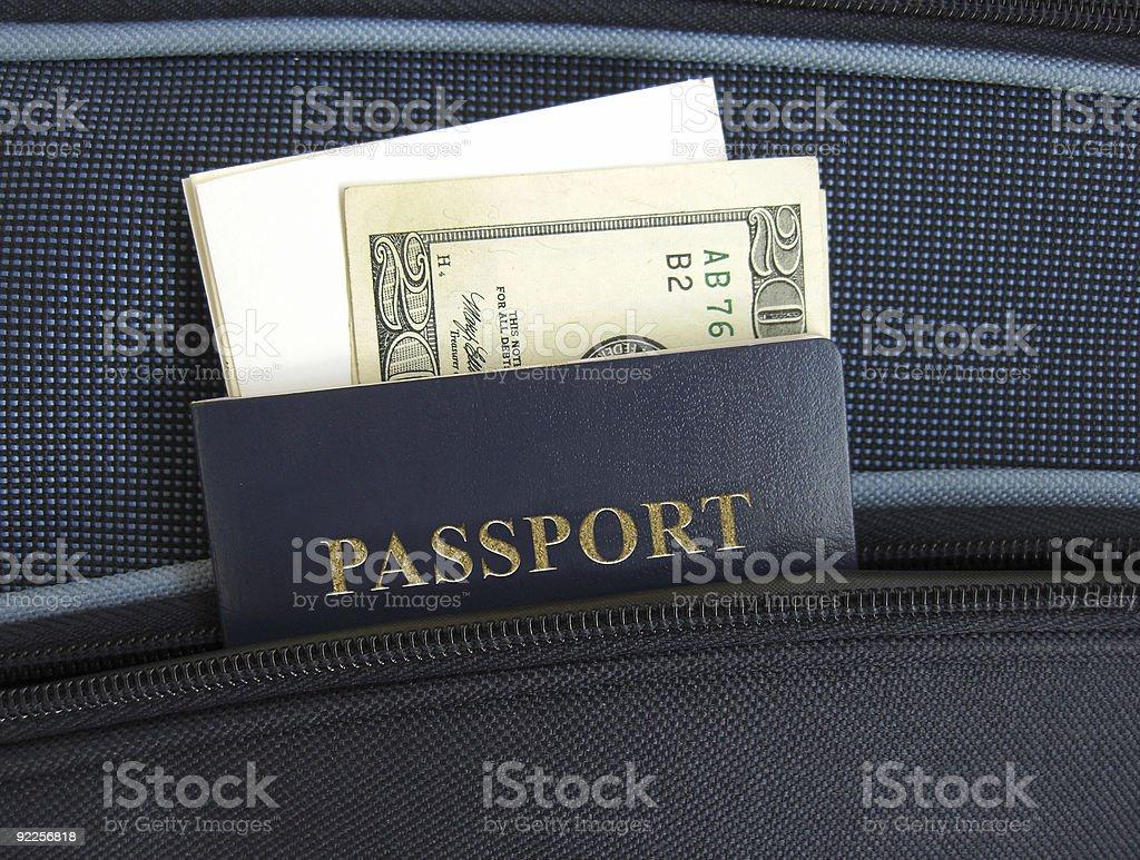 パスポートのポケット ストックフォト