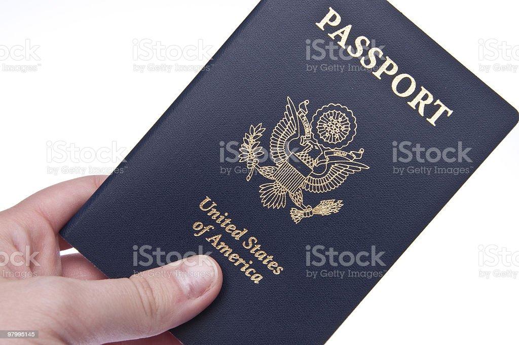 Passport in Hand royalty free stockfoto