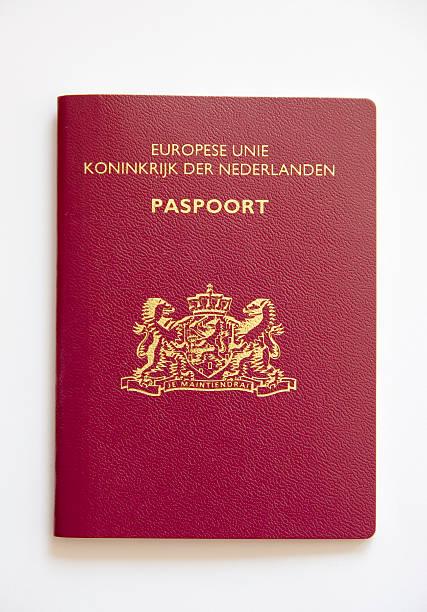 Passport (Dutch) Isolated on White stock photo