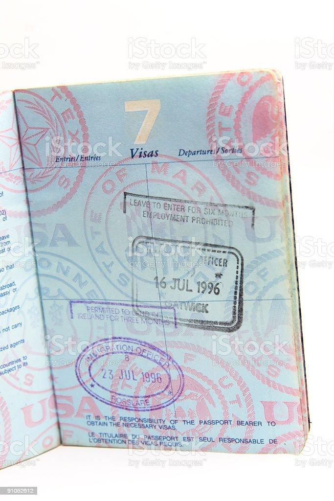 US Passport Isolated on White royalty-free stock photo