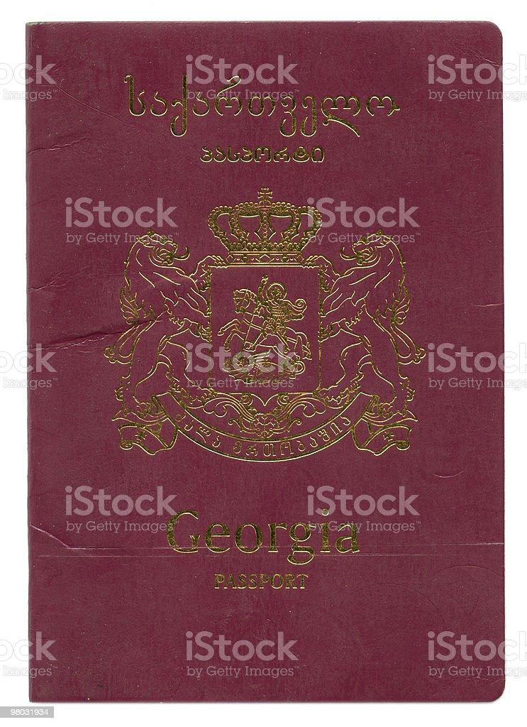 Passaporto della Georgia foto stock royalty-free