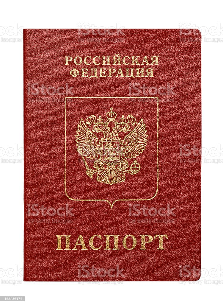 Passport of Russian Federation (isolated) stock photo