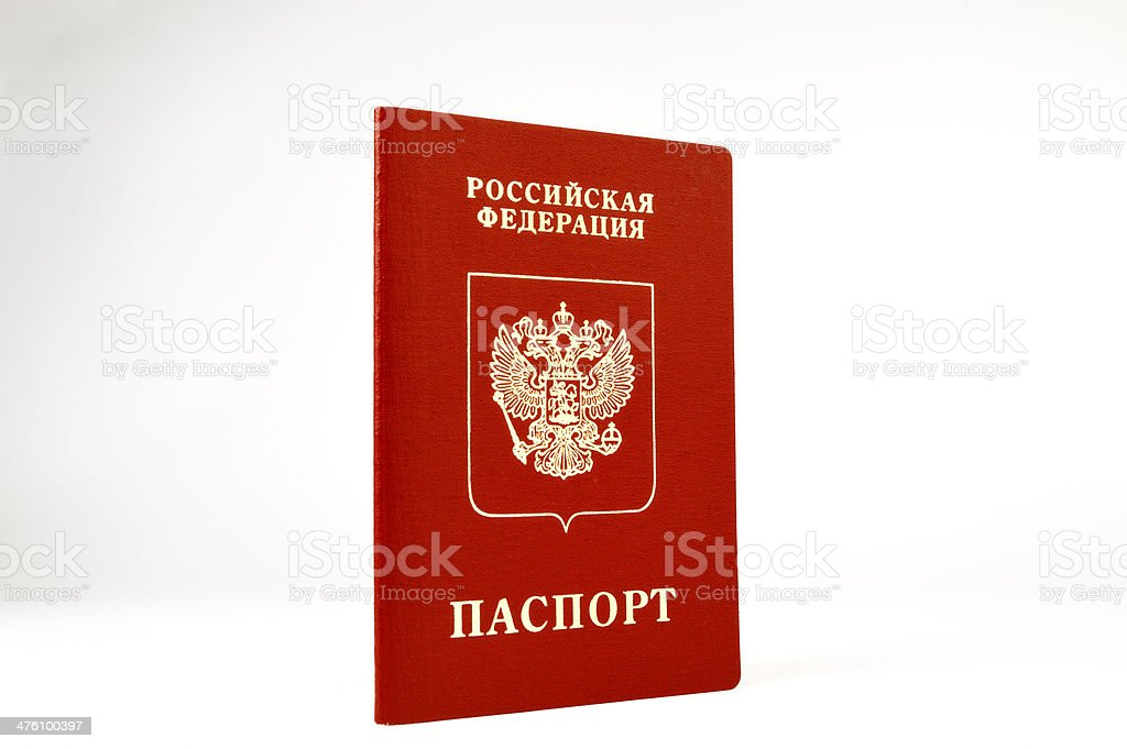 passport of the foreign, on white background royalty-free stock photo