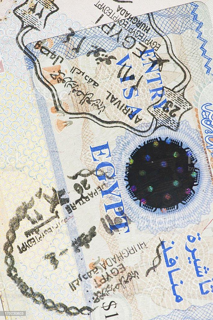 Passport page royalty-free stock photo