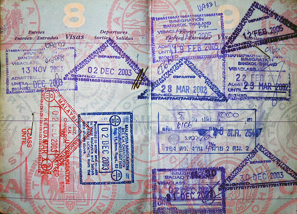 passport  travel asia  passport  stams       pasport malaysia stock pictures, royalty-free photos & images