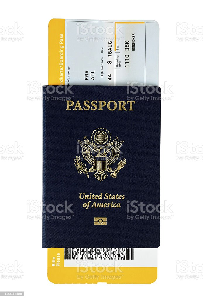 Pasaporte estadounidense - foto de stock