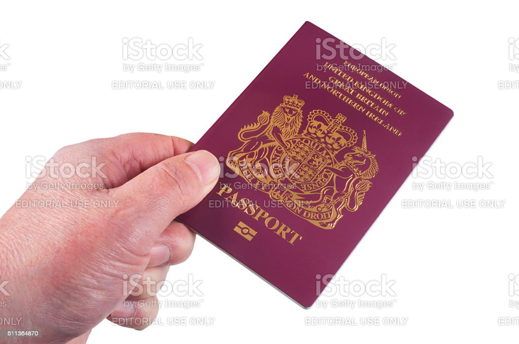 UK Passport stock photo