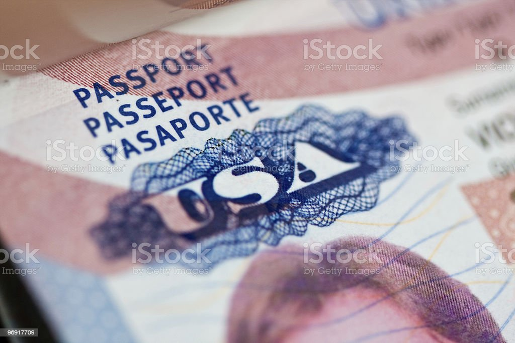 US Passport royalty-free stock photo