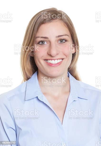 Passport picture of a blonde german woman in blue blouse picture id480956710?b=1&k=6&m=480956710&s=612x612&h=zotkyqemcrxtzzhpigvtcbv4kqkpyaucdnuylmmt5vu=