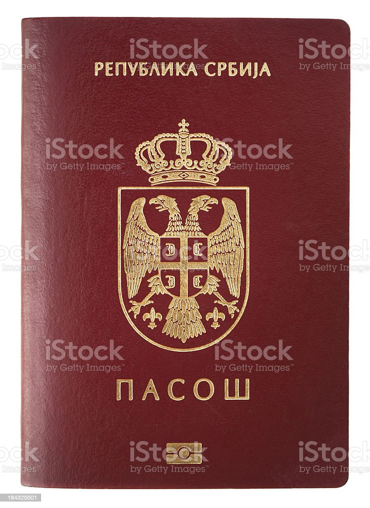 Passport: Serbia stock photo