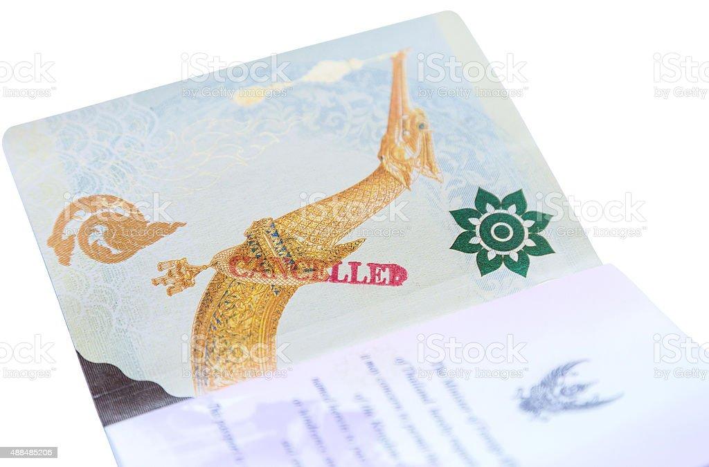 passport stamp cancelled stock photo
