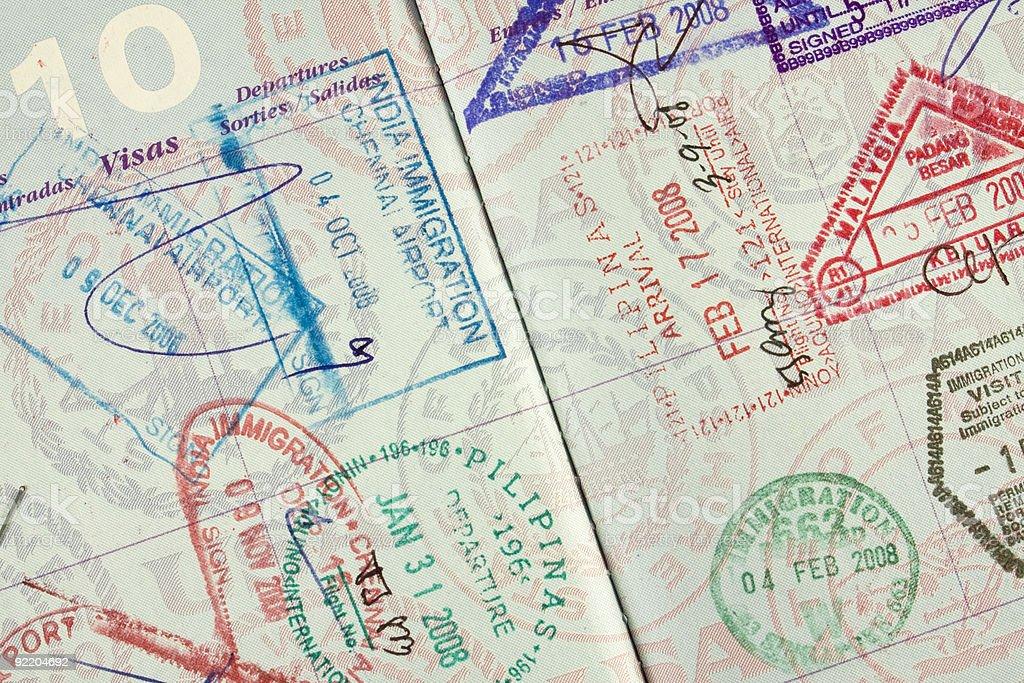 U.S. Passport Stamped stock photo