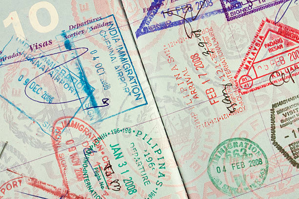 U.S. Passport Stamped  pasport malaysia stock pictures, royalty-free photos & images